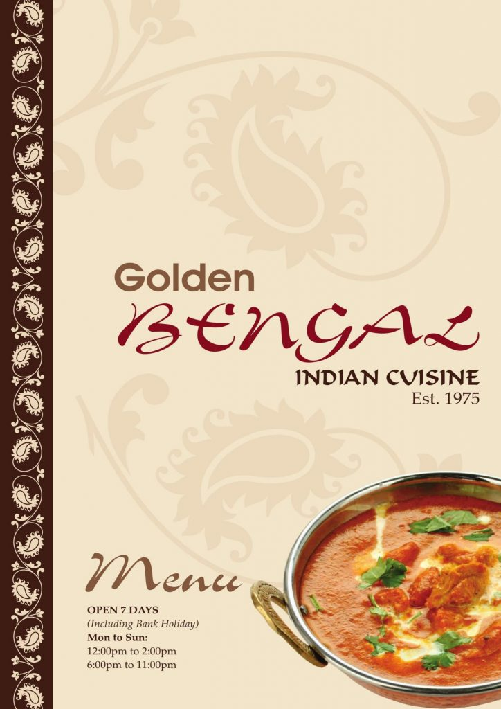 Golden Bengal Oxted Menu - Page 1 of 7